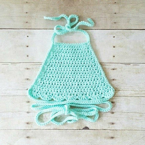 Crochet Baby Halter Top Wrap Sleeveless Tank Top Shirt Spring Summer Clothing Infant Baby Toddler Child Photography Photo Prop Baby Shower - Red Lollipop Boutique