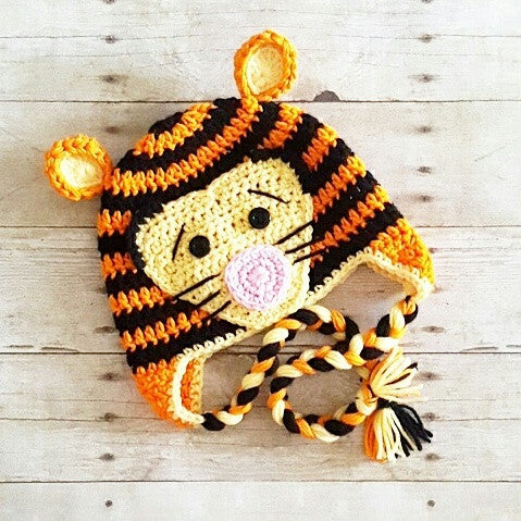 Crochet Tigger Tiger Hat Beanie Winnie The Pooh Newborn Baby Infant Toddler  Child Adult Handmade Photography 05dc9b3d020