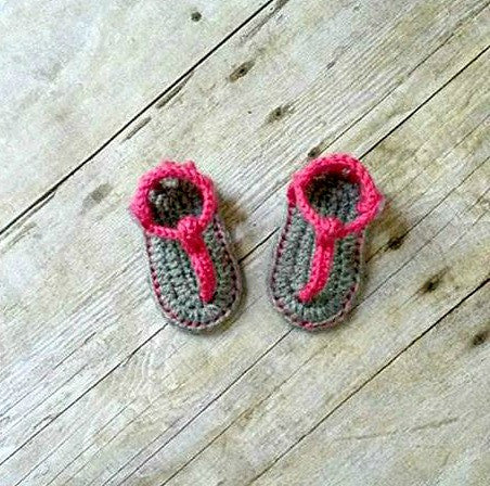 Crochet Baby Sandals Shoes Slippers Booties Gladiator Newborn Infant Footwear Spring Summer Clothing Accessory Handmade Gift - Red Lollipop Boutique
