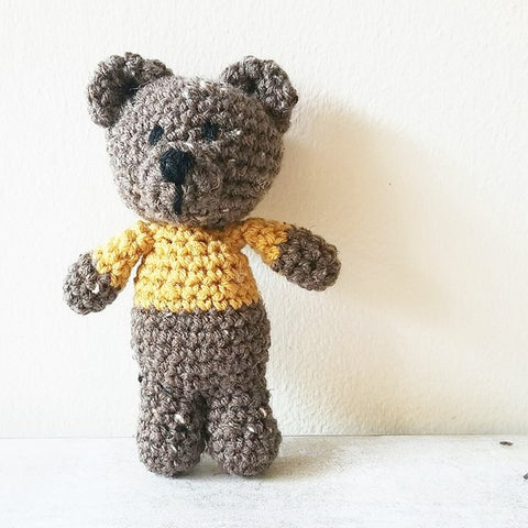 Crochet Teddy Bear Stuffed Animal Stuffie Infant Newborn Baby Toddler Photography Photo Prop Baby Shower Gift
