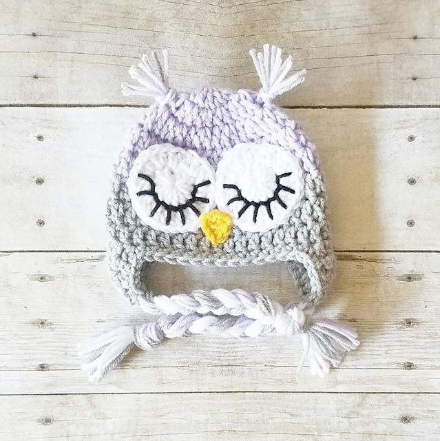 ... Crochet Baby Owl Hat Beanie Animal Newborn Infant Toddler Child Adult  Photography Photo Prop Handmade Baby ... 4b01998e6586