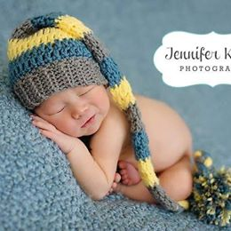 Crochet Baby Stocking Cap Hat Beanie Striped Infant Newborn Baby Toddler  Handmade Photography Photo Prop Baby a507014ea57