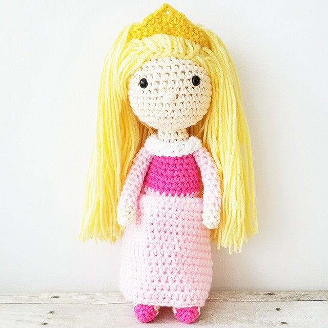 Crochet Sleeping Beauty Aurora Doll Toy Baby Infant Toddler Girl Nursery Bedroom Decor Decoration Theme Photography Photo Prop