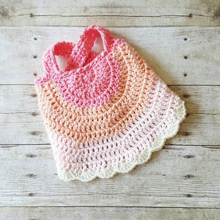 Crochet Baby Swing Top Halter Top Tank Top Backless Shirt Newborn Infant Toddler Handmade Clothing - Red Lollipop Boutique