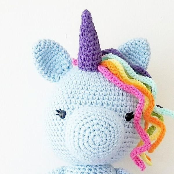 Crochet Unicorn Doll Tutu Ballerina Toy Stuffed Animal Rainbow Handmade Toddler Girl Kid and Baby Nursery Room Decor