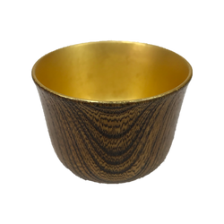 Kihachi / Sake cup (Keyaki with gold foil)