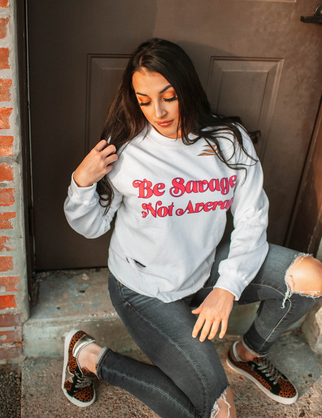 Gina Pop Culture GINA Be Savage Not Average Sweatshirt Gina