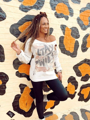 GINA TURQUOISE LABEL Stay Wild Sweatshirt Gina Tees LLC
