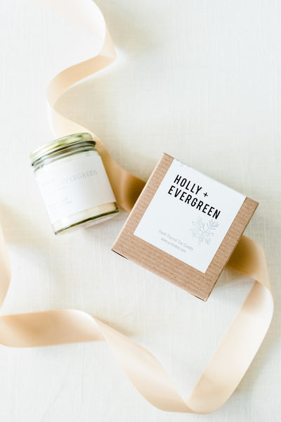 Holly + Evergreen Candle