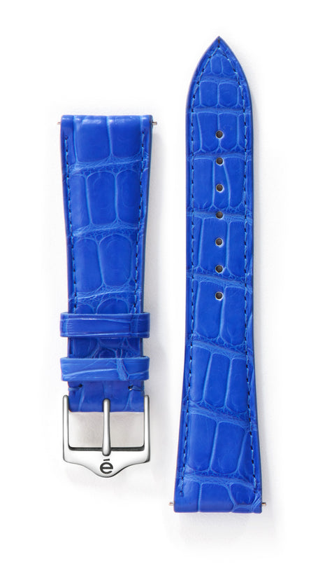 Blue Alligator Watch Band