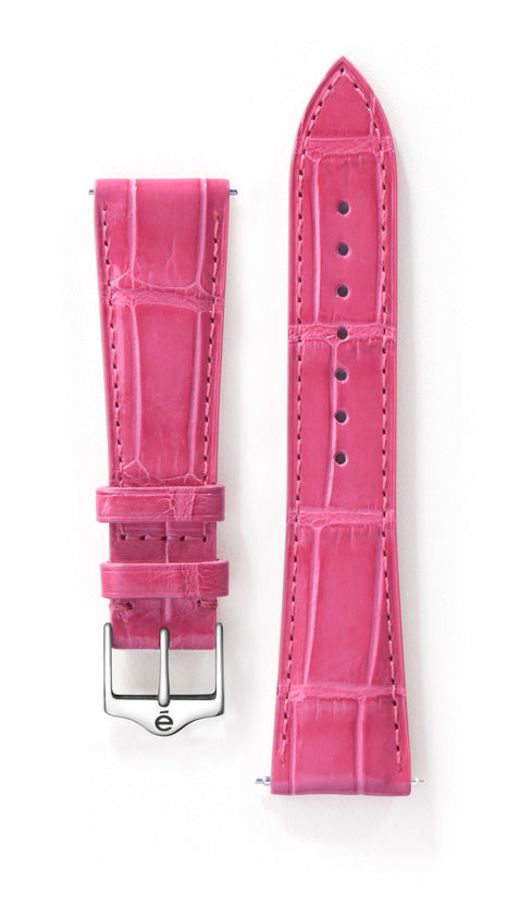 Fuchsia Alligator Watch Band