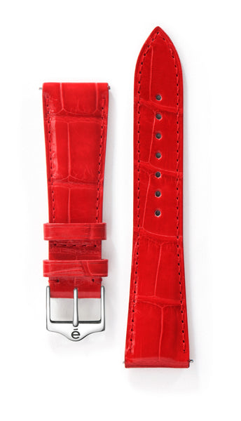 Red Alligator Watch Band
