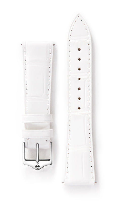White Alligator Watch Band