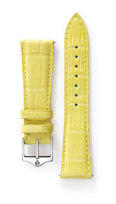 Yellow Alligator Watch Band