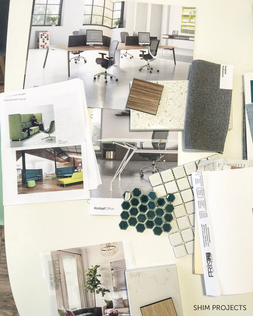 Inspiration board by Shim Projects