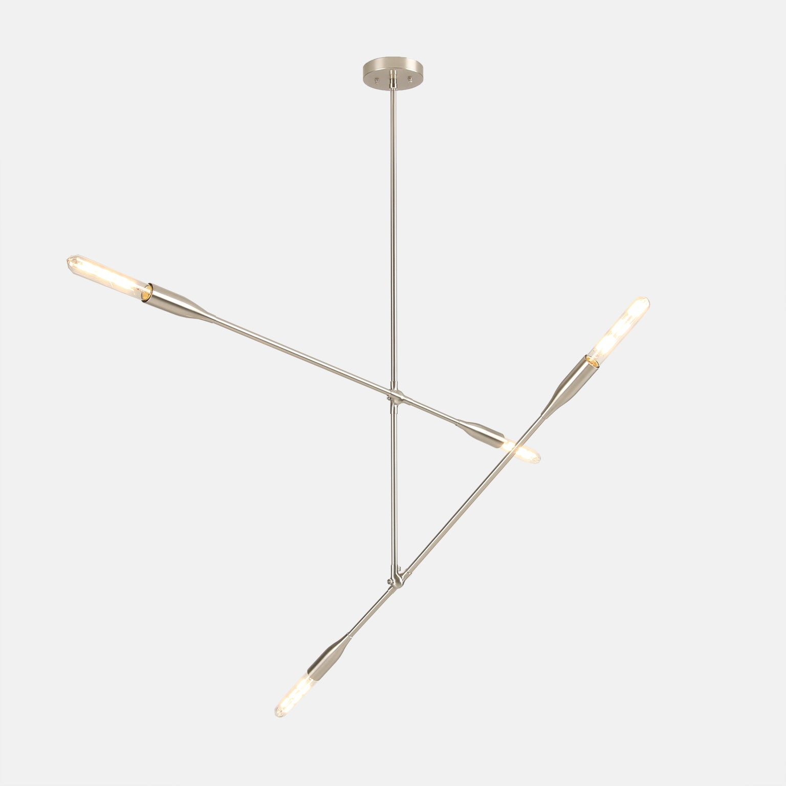 Sorenthia 2-Arm Light by Studio DUNN in Brushed Nickel on a grey background