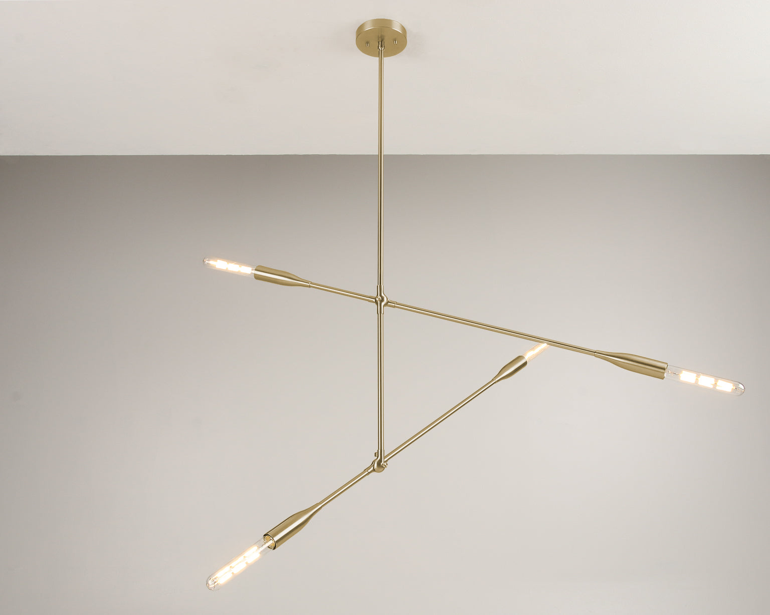 Sorenthia 2-Arm modern light fixture in Brushed Brass by Studio DUNN