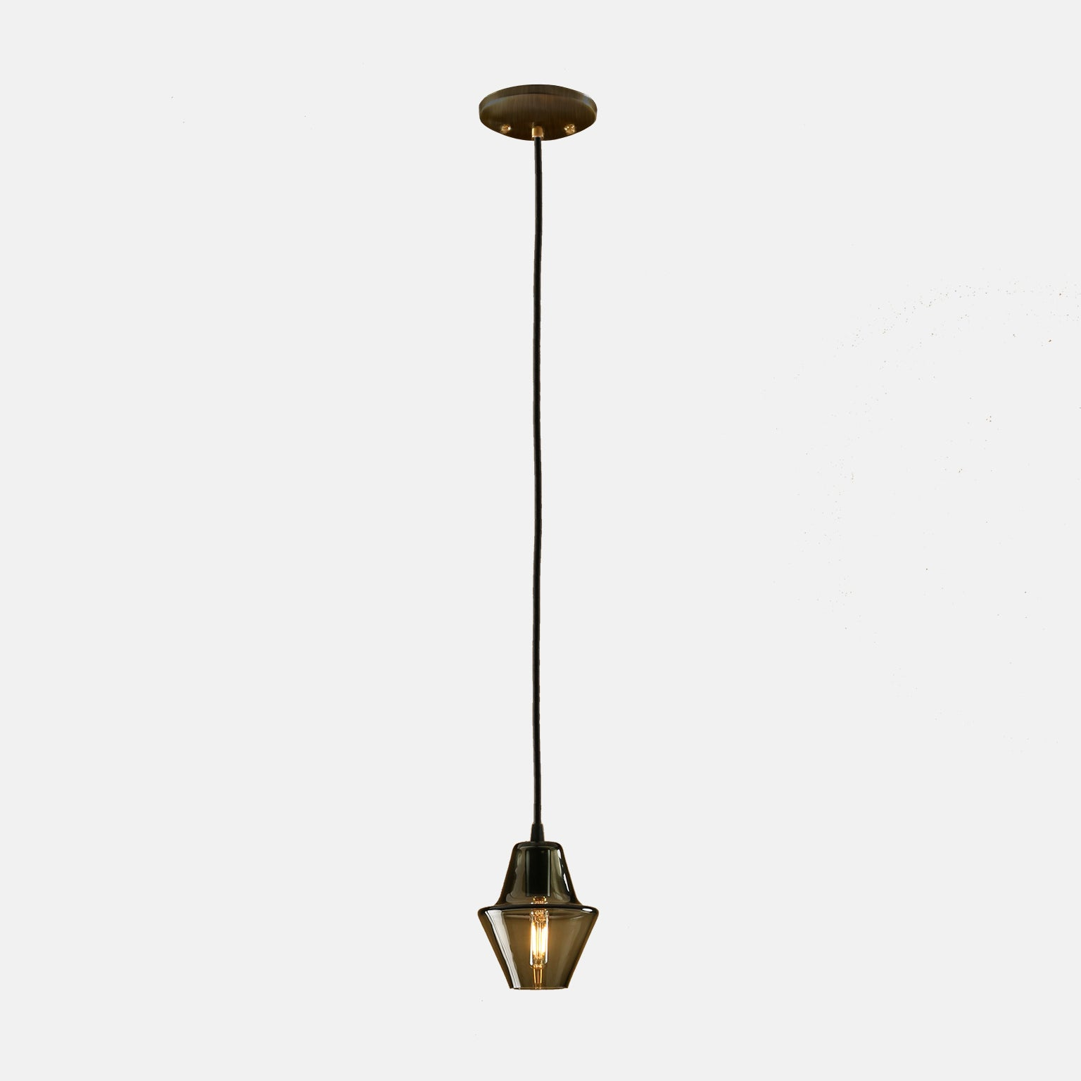 Cumberland Pendant in Smoke Grey with Oil Rubbed Details