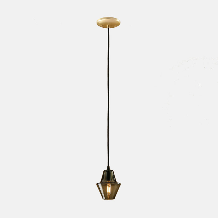 Cumberland Pendant in Smoke Grey with Brass Details