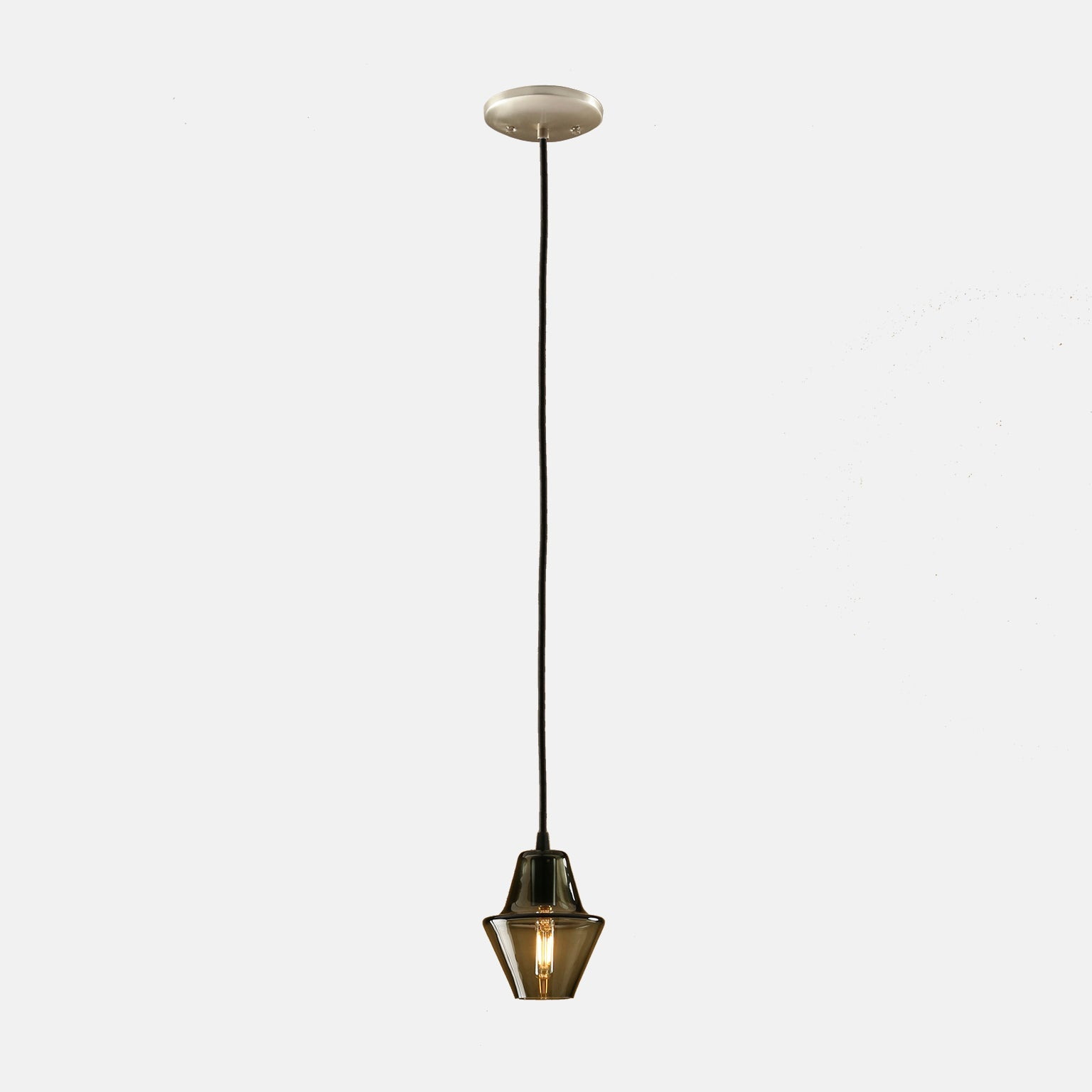 Cumberland Pendant in Smoke Grey with Nickel Details