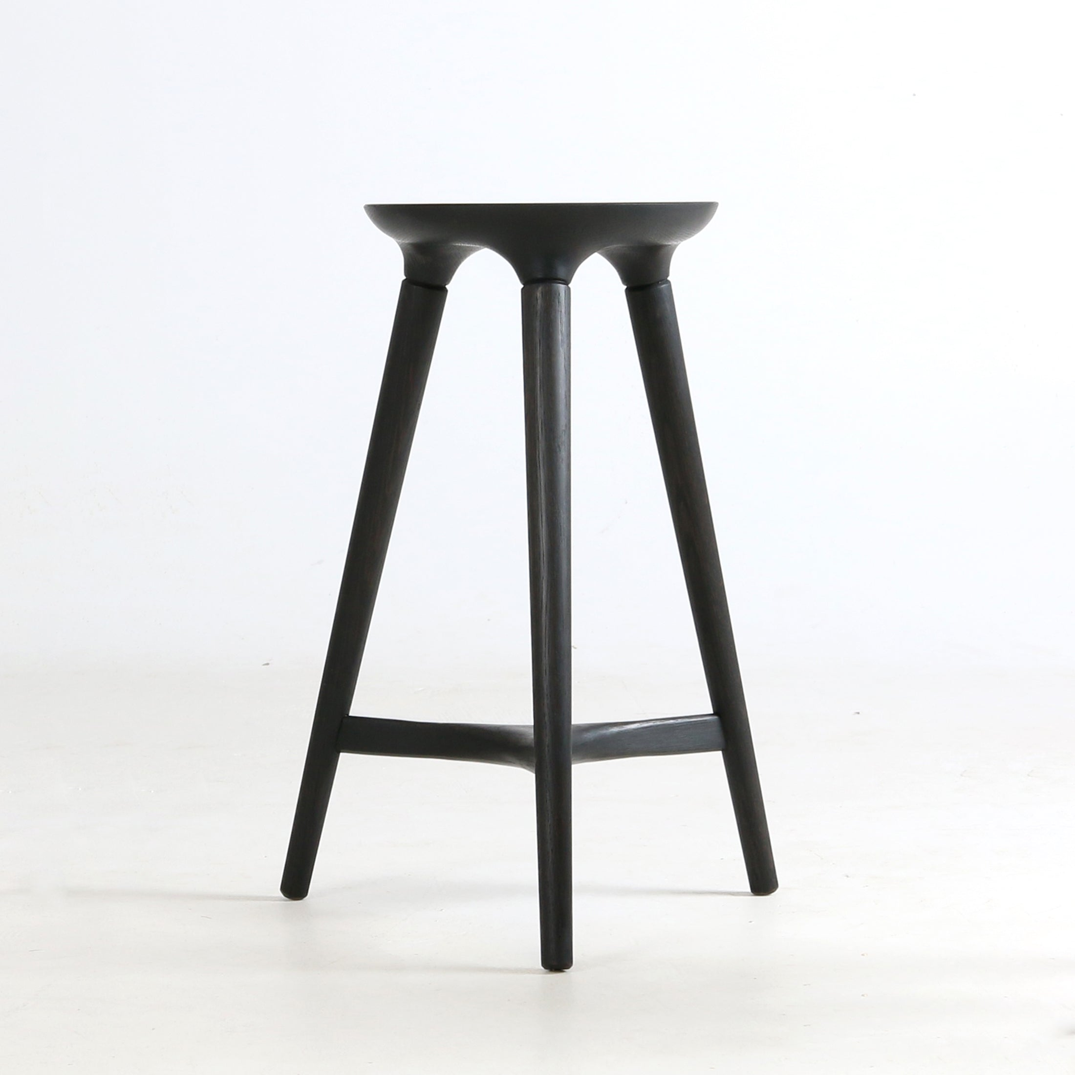 Coventry and Kingstown Stools in Vintage White and Seasoned Black by Studio DUNN
