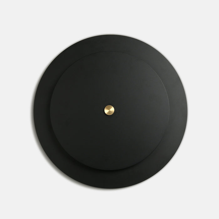 Equinox Sconce in Black Poppy with Brass Details