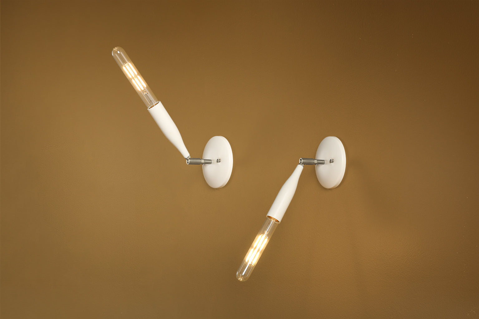 Flute Sconce in Country Cream with Nickel Details