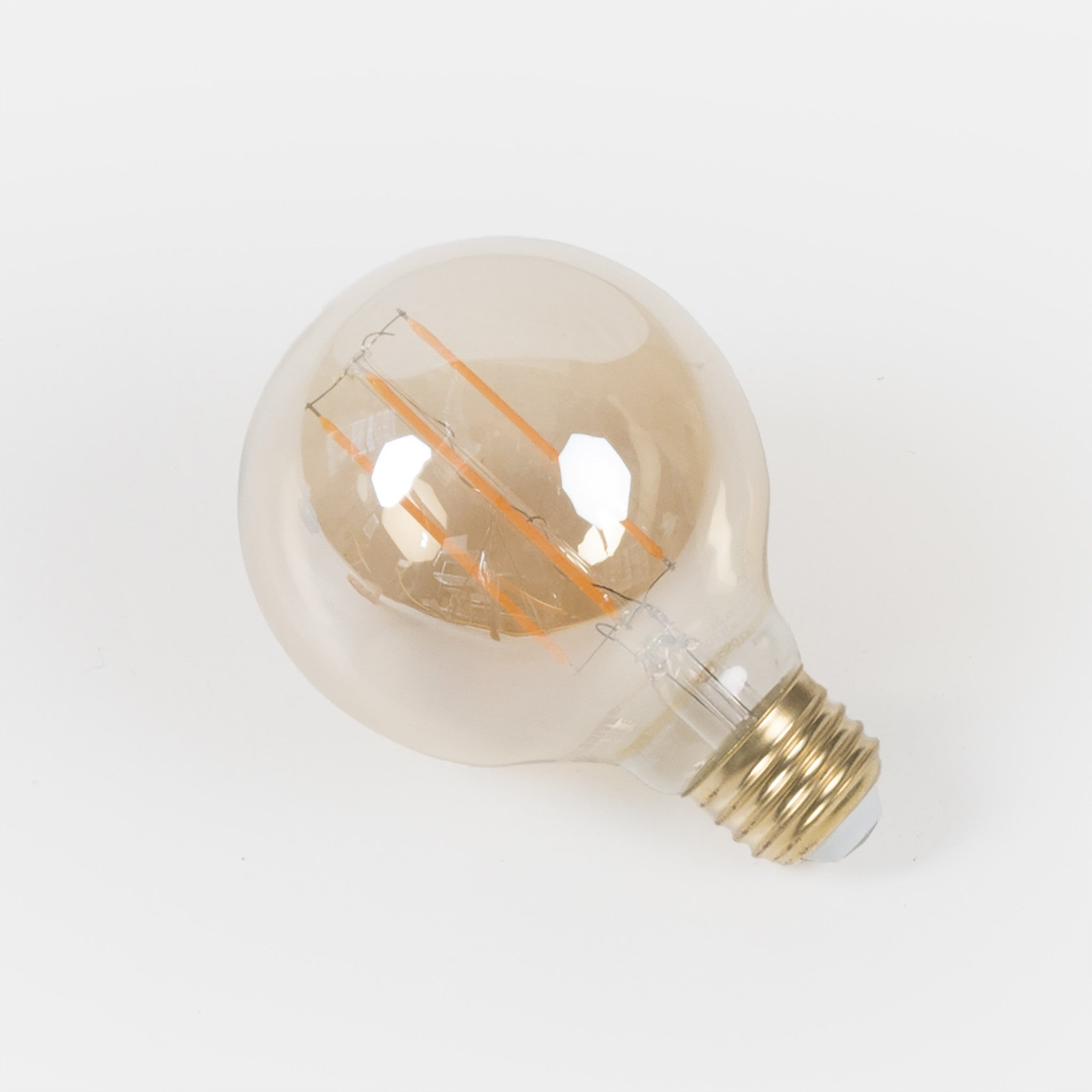 "3.125"" Globe Antique-Style LED bulb with E26 base offered by Studio DUNN for use with the Sorenthia and Flute Collections"