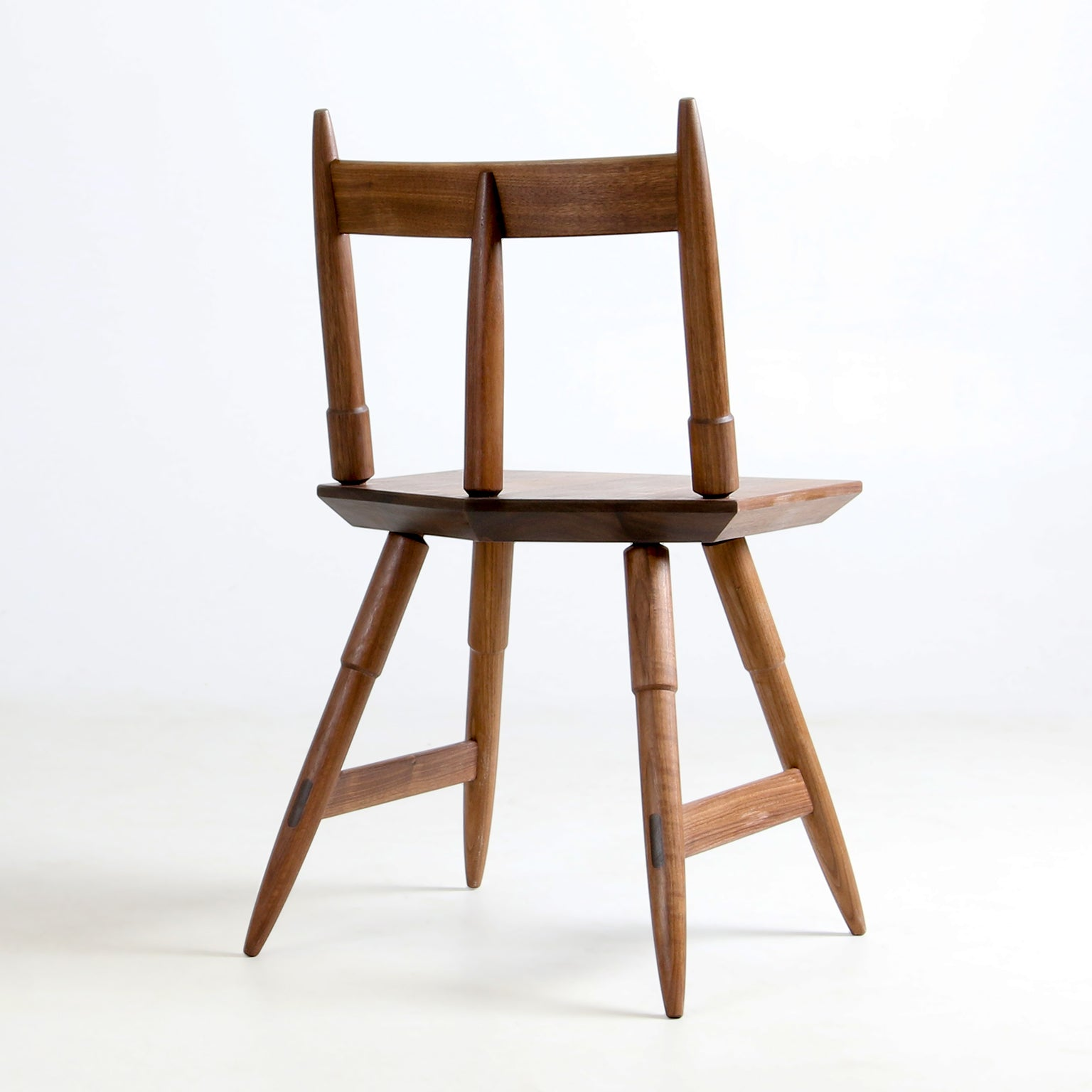 Rockport Chair in Walnut by Studio DUNN back view