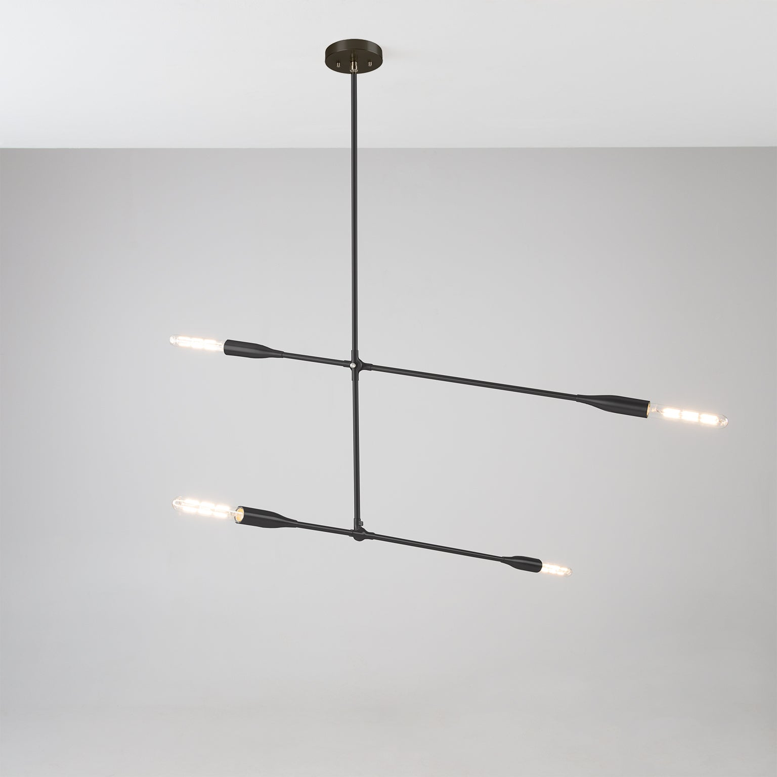 Sorenthia 2-Arm Light in Black Poppy powder coat with Nickel Details by Studio DUNN