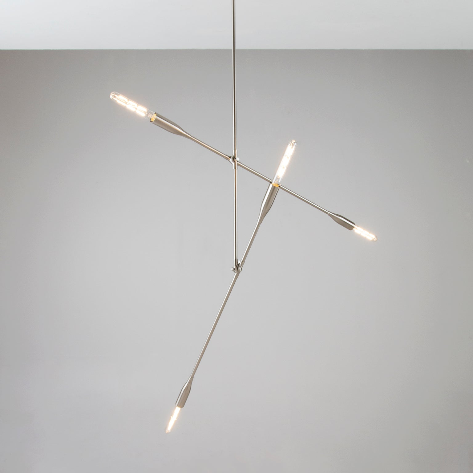 Sorenthia 2-Arm linear light fixture in Brushed Nickel by Studio DUNN