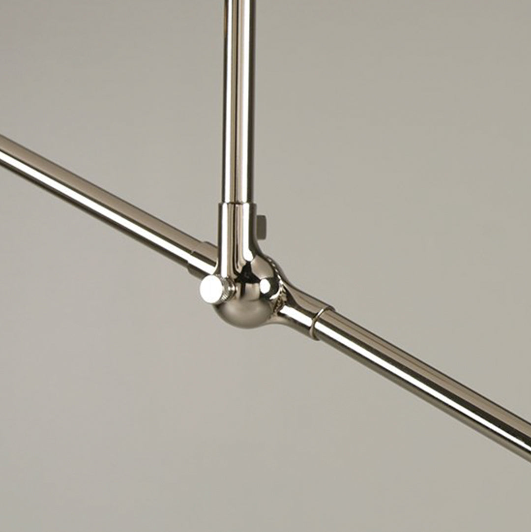 "Thia Light in Polished Nickel with 8"" Drop"
