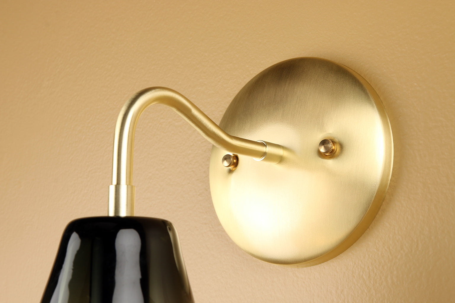 Cumberland Sconce in Smoke Grey Glass with Brass Details