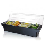 4 Compartment Condiment Holder with Ice Bin