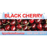 Shaved ice flavor bottle label black cherry