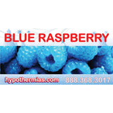 Shaved ice bottle label blue raspberry
