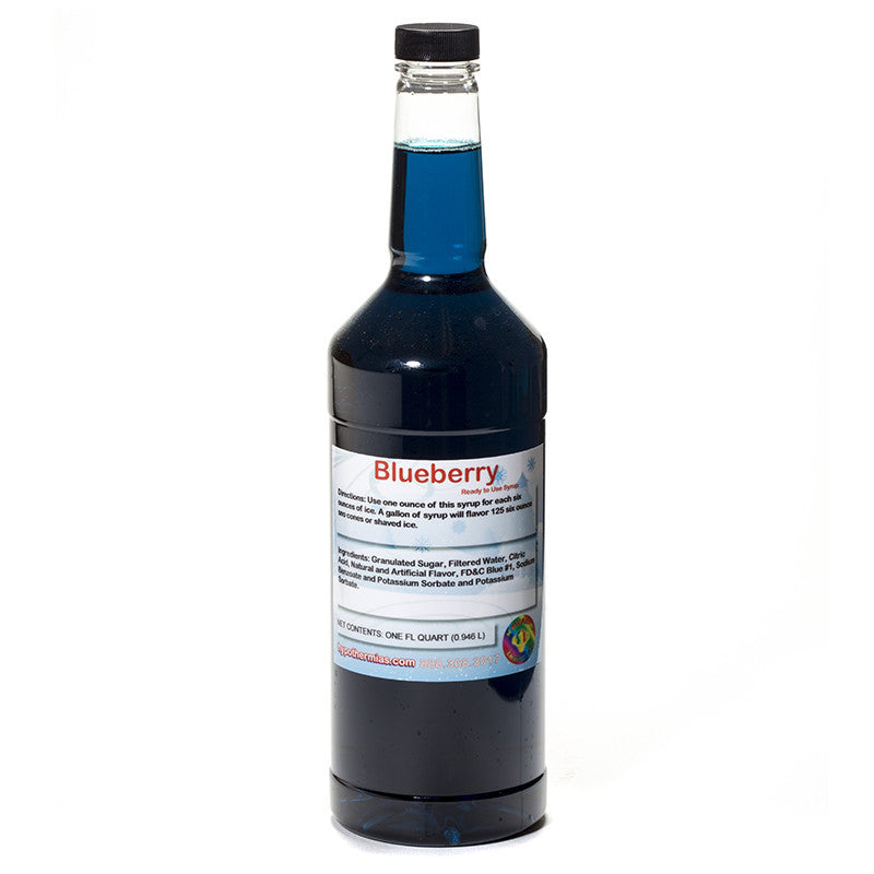 Blueberry shaved ice syrup flavor ready to use quart