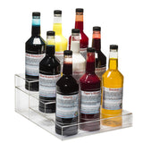 Nine bottle speed rack three tier clear acrylic