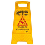 Caution Wet Floor Sign Bright Yellow A Frame