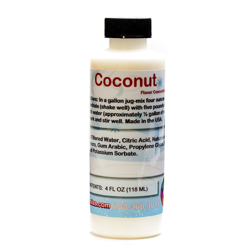 Coconut snow cone flavoring concentrate 4 ounce