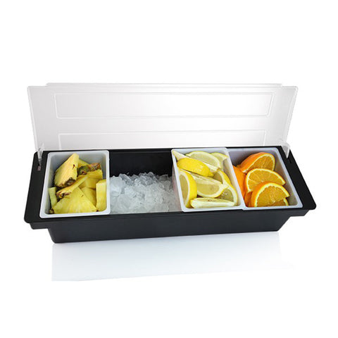 Condiment Holder with Ice Bin - 4 Compartment