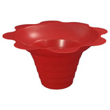 Shaved ice flower cup small 4 ounce red