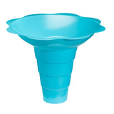 Large shaved ice flower cup 12 ounce blue