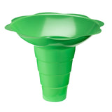 Large shaved ice flower cup 12 ounce green