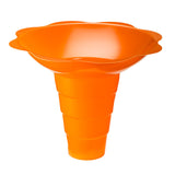 Large shaved ice flower cup 12 ounce orange