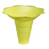 Large shaved ice flower cup 12 ounce yellow