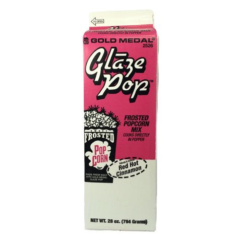 Red Hot Cinnamon Glaze Pop-Popcorn Flavoring (1 Carton) Gold Medal 2526