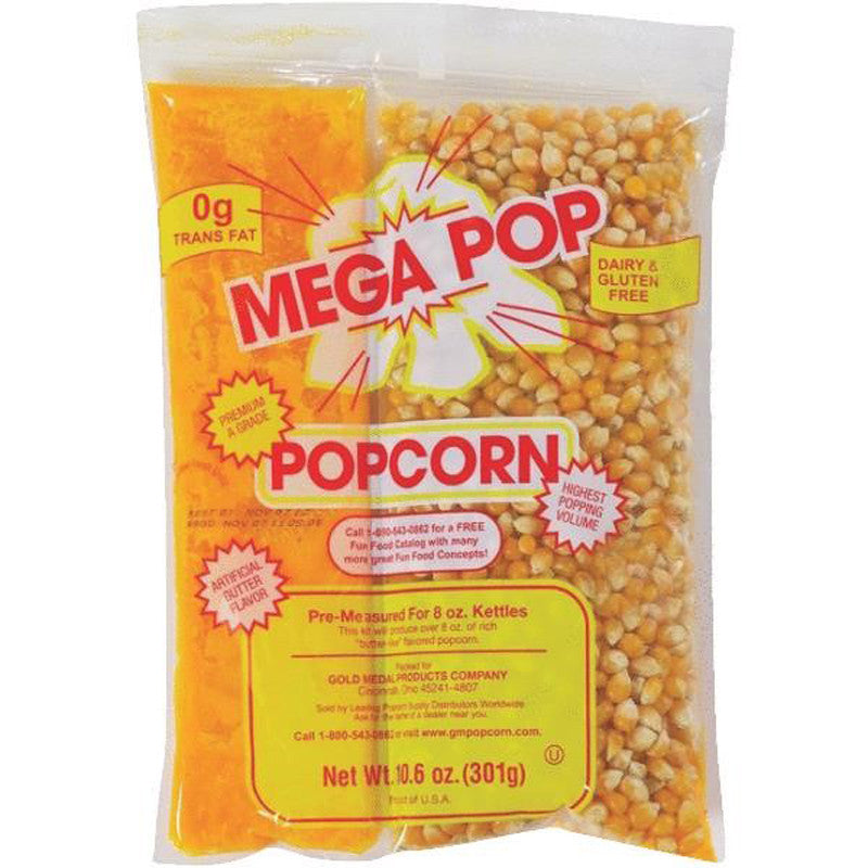 Gold Medal 2838 popcorn kit Mega Pop for 8 ounce popcorn kettles