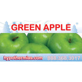 Label for shave ice bottle green apple
