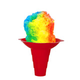 Shave ice flower cup 12 ounce large red